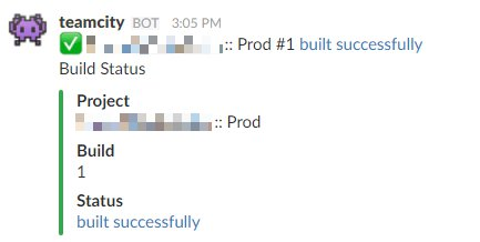 Slack Build Success Message